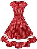 Gardenwed 1950er Vintage Retro Rockabilly Kleider Petticoat Faltenrock Cocktail...