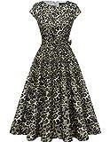 DRESSTELLS Damen 1950er Vintage Retro Rockabilly Petticoat Kleid Festliches...