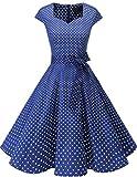 Dresstells Vintage 50er Swing Party kleider Cap Sleeves Rockabilly Retro Hepburn...