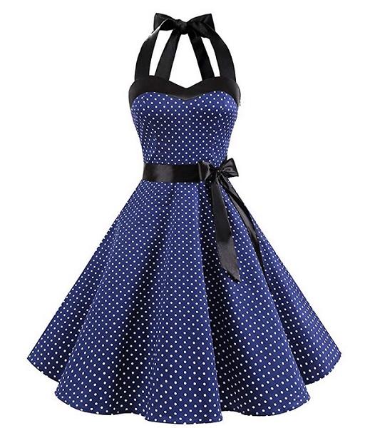 50er Jahre Rockabilly Petticoat Kleid Damen Mode Rockabella 60er
